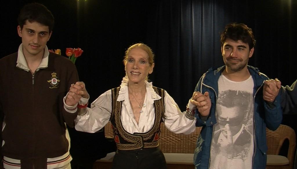 Emanuele Lotti, Violetta Chiarini e Stefano Skalkotos