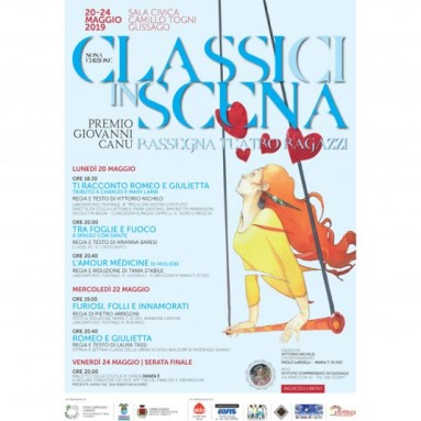 """""""Rassegna Classi(ci) in scena – premio Giovanni Canu"""" dal 20 al 24 maggio"""