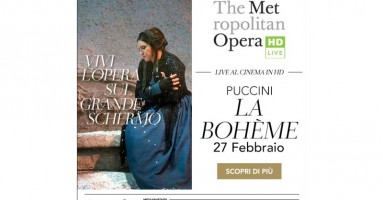 """Martedì 27 febbraio alle 19.45 Arriva sul grande schermo l'opera più rappresentata dal Met: """"La Bohème"""" nella versione di Zeffirelli"""