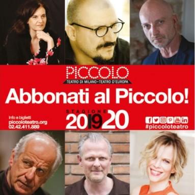 PICCOLO TEATRO - STAGIONE 2019/20