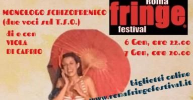 Monologo vincitore della menzione speciale al Premio Sipario Autori Italiani 2018 al Fringe Festival di Roma