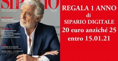 REGALA 1 ANNO DI SIPARIO DIGITALE A 20 euro anziché 25 - entro 15 gennaio 2021