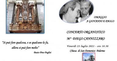 PALERMO -  Concerto alla Chiesa San Domenico in omaggio a FALCONE e BORSELLINO Venerdì 23 luglio, alle ore 18.30